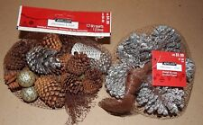 Pinecones Small Scented Bags 2ea With Silver Mix Stuff Ashland Christmas 140F