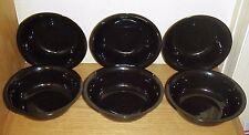 (Lot of 6) ~  BLACK  Plastic Bowls  21oz  ~ BPA FREE -  FREE SHIPPING