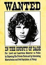THE DOORS - WANTED SIGN - FABRIC POSTER - 30x40 WALL HANGING - MORRISON HFL0142