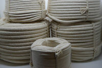 Natural White Pure Untreated Cotton Rope Bag Handle Macrame Craft - Wide Choice