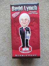 BUDD LYNCH DETROIT NHL RED WINGS ANNOUNCER SGA BOBBLE HEAD NIB
