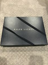 """Ralph Lauren Navy Gift Box With Gold Letters, 13"""" X 10"""""""