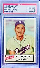 1954 Dan-Dee Potato Chips Gil Hodges PSA-8 Nm-Mt  **Well Centered!!** Dodgers