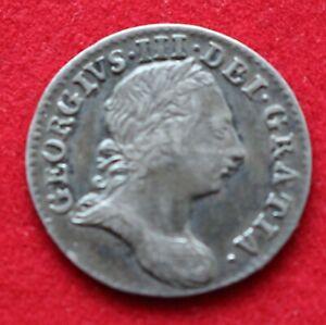 VERY NICE GRADE GEORGE III THREE PENCE 1763