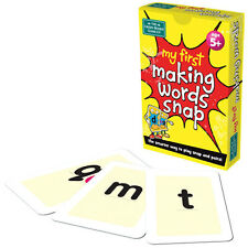 NEW The Green Board Game Co. - My First Making Words Snap Cards - 5 years plus