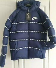 NIKE Boys Padded Down Jacket Sz Extra Large XL 13-15 Years Puffer Bomber Hooded