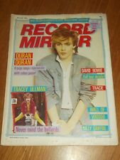 RECORD MIRROR MARCH 26 1983 DURAN DURAN DAVID BOWIE TRACEY ULLMAN NICK RHODES