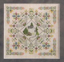 ENGLISH GARDEN SAMPLER CROSS STITCH ROSEWOOD MANOR STITCHER'S VILLAGE DESIGNS
