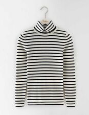 Boden Roll Neck Merino Blend Stripe Sweater Jumper 20-22 BNWT RRP £63.50 Ivory