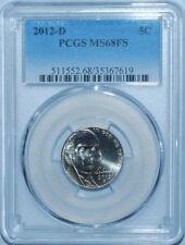 2012 D PCGS MS68FS Full Steps Jefferson Nickel Tired For Finest Registry Pop 2/0
