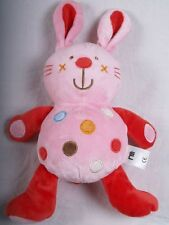 MOTHERCARE BABY SOFT TOY PINK BLANKIE TEDDY BUNNY FROM MOTHERCARE