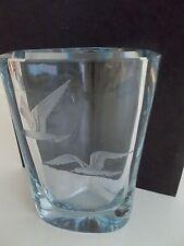 STROMBERGSHYTTAN ETCHED CRYSTAL ART GLASS VASE