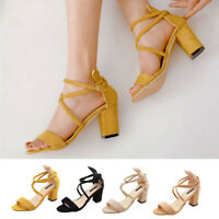 Women Ladies Summer Fashion High Heel Causal Single Shoes Sandals Party Shoes