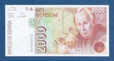 ESPAÑA // SPAIN -- 2000 PESETAS ( 1992 ) -- aUNC -- SERIE 9A -- PLIEGUE DE PAPEL