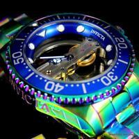 Invicta Pro Diver Ghost Bridge Iridescent Steel 47mm Mechanical Watch New