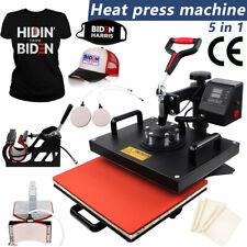 5 In 1 Digital Heat Press Machine Sublimation Shirts Printer Mug Plate 15x11''
