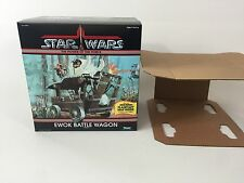 brand new star wars power of the force ewok battle wagon box + inserts