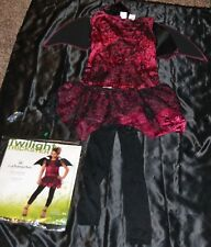 Twilight Trickster Vampire Queen Halloween Costume Fits Kids Size Girls 8-9-10