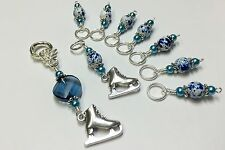 Ice Skate Stitch Marker Set (SNAG FREE) for Knitting