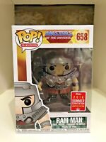 RAM MAN SDCC 2018 CONVENTION EXCLUSIVE FUNKO POP MASTERS OF THE UNIVERSE MOTU658