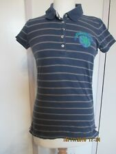 WOMENS SUPERDRY POLO T-SHIRT IN SIZE L