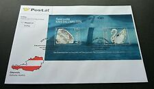 Austria Swarovski Crystal Worlds 2004 Swan Bird FDC) unusual *Rare *real crystal
