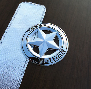 Metal Silver Black TEXAS Edition Star Emblem Badge Sticker Fit Chevy Ford Dodge