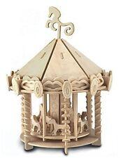 Carrousel: Woodcraft Quay Construction Bois Merry Go Rond 3D Kit Modélisme P082
