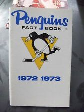 VINTAGE 1972-73 PITTSBURGH PENGUINS MEDIA GUIDE FACT BOOK GREAT CONDITION