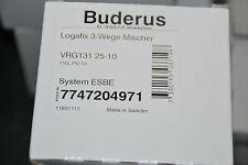 """BOSCH BUDERUS 7747204971 LOGAFIX 3-WEGE MISCHER 1"""" VRG131 25-10 PN 10 ESBE NEU"""