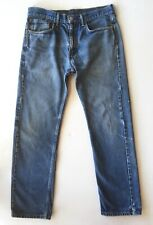 Vtg Levis 505 Jeans 34 x 32 Distressed Faded Stained Holes Destroyed Grunge