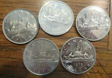 Lot of 5 Canada Dollar Coins