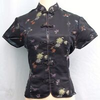 Traditional Chinese Style Brocade Blouse - Floral Pattern