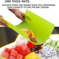 4Pcs Flexible Chopping Block Cutting Board Cutting Mats Kitchen Tools Non-slip