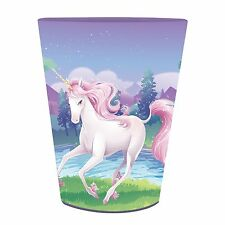 'Unicorn Fantasy' Girls Birthday Party Plastic Keepsake Favor Cup 16 Oz. Kids