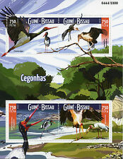 Guinea-Bissau 2015 MNH Storks 4v M/S Birds Marabou Saddle-Billed Stork Stamps
