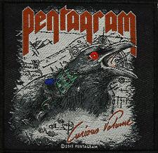 PENTAGRAM -  Aufnäher *CURIOUS VOLUME* - Patch Gewebt Doom Metal 10 x 10 cm