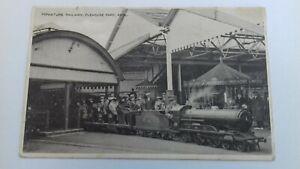 vintage  Postcard Miniature Railway Pleasure Park Rhyl posted 1925