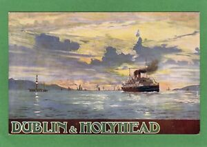 Dublin & Holyhead Poster Advert L & N W Railway pc McCorquodale Ref M8