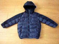 Next Boys Hooded Padded Navy Blue Puffa Coat Size Age 5yr