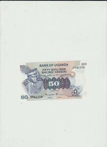 UGANDA  50  SHILLINGS  UNC  IDI  AMIN