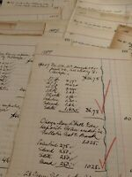 Historical Ledger Paper 1886 New York City Unique Historic Urban Reference. WOW!