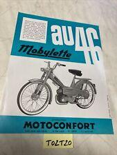 Motoconfort mobylette AU46 catalogue prospectus brochure de vente