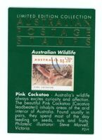 Limited Edition Collection Australian Postage Stamp Pink Cockatoo