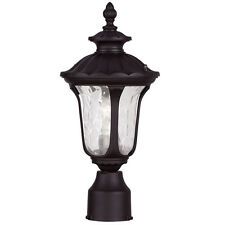 Landscape Lamp Livex Oxford 1 Light Outdoor Lighting Post Head Bronze 7848-07