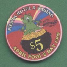 $5 FIESTA  APRIL FOOLS DAY 1999 CHIP LAS VEGAS