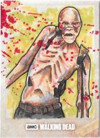 Walking Dead Season 8 Sketch Card Walker by Michael Barnard