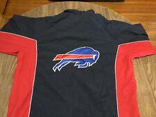Buffalo Bills Navy & Red Large Zip Up Lightweight Jacket NFL Football
