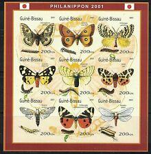 GUINEA BISSAU:2001 MNH mini sheet BUTTERFLIES