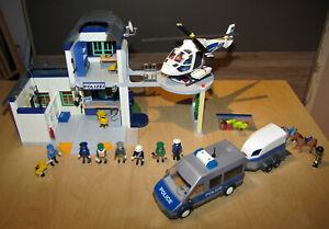 Playmobil: Große Polizeistation mit Hubschrauber, Polizeibus und viel Zubehör
